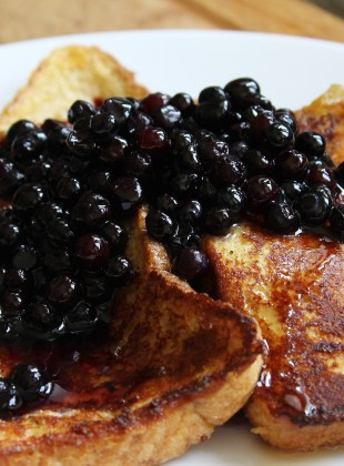 toast doree bleuets et sirop erable sharp