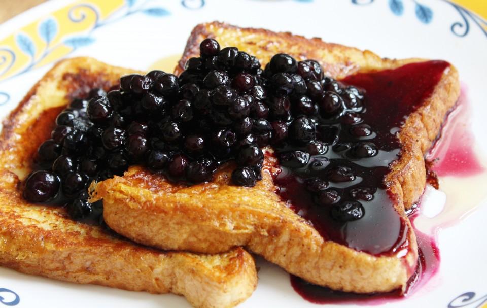 toast doree sirop erable bleuet