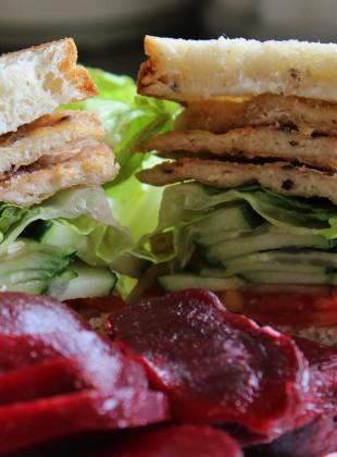 Sandwhich style poulet pané